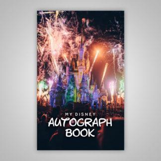 Disney Autograph Book Castle Fireworks