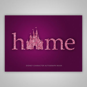 Disney Autograph Book Purple Glitter
