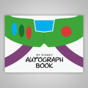 Disney Autograph Book Buzz Lightyear Toy Story