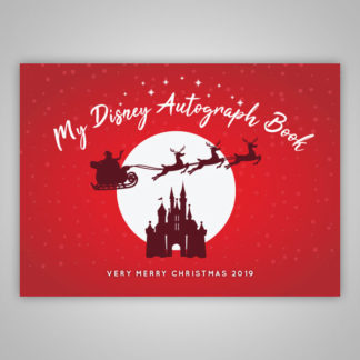 Disney Autograph Book Christmas 2019