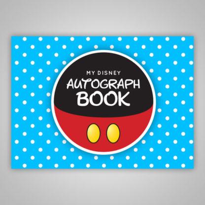 Disney Autograph Book Blue Polka Dot