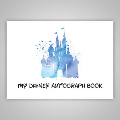 Disney Autograph Book Blue Paint Splatter