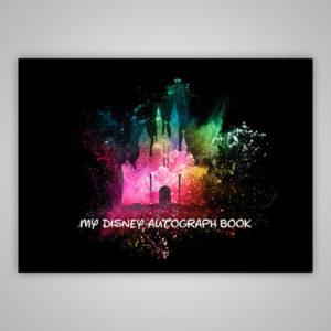 Disney Autograph Book Paint Splatter Black