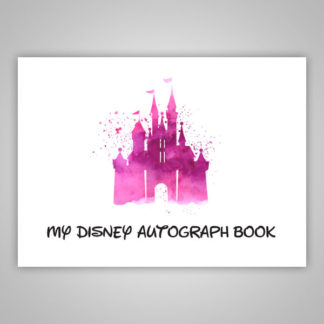 Disney Autograph Book Pink Paint Splatter