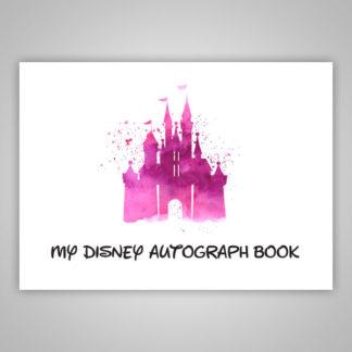 Disney Autograph Book Pink Paint Splatter