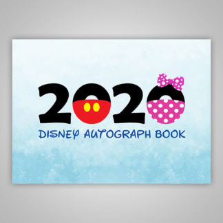 Disney Autograph Book 2020 Blue