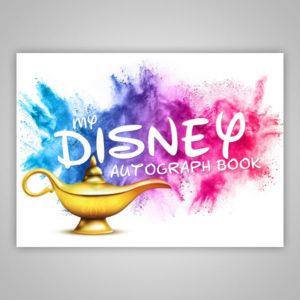 Disney Autograph Book Aladdin Lamp