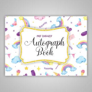 Disney Autograph Book Rainbows Ice Cream Clouds