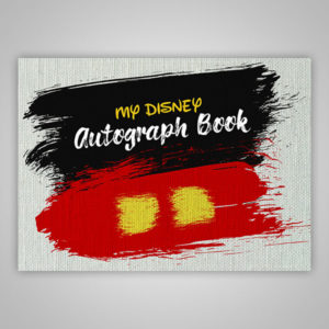 Disney Autograph Book Mickey Paint