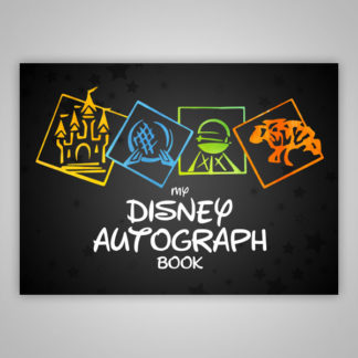 Disney Autograph Book Parks Black
