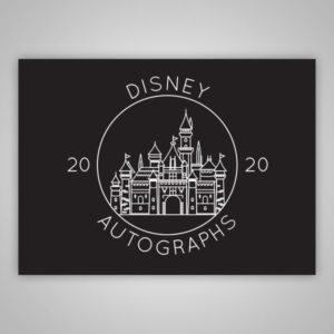 Disney Autograph Book Castle Outline